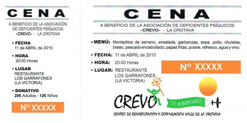Cena Benéfica 2015 CREVO